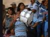 Las barras alentaron siempre a los pequeños que competían en la Ciudad Deportiva Carlos Pérez Perasso. Los padres de familia se las ingeniaban para llevar artículos que hagan ruido