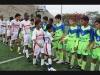 Saludos entre los integrantes de la academia de fútbol Chino Gómez con la Metro Liga, previo a la final de la Sub 13. El partido fue ganado por los metropolitanos 1 a 0 y dieron la vuelta olímpica.