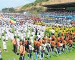 Miles de personas acudieron a la Ciudad Deportiva al acto inaugural del torneo Interbarrial.