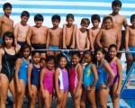 Parte de los deportistas que participaron en el campeonato de clavados, que por el Novatos de Natación de Diario EL UNIVERSO, se desarrolló en la piscina Los Cuatro Mosqueteros