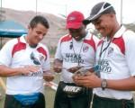 Los técnicos Aurelio Morales, Alejandro Angulo y Walter Jácome.