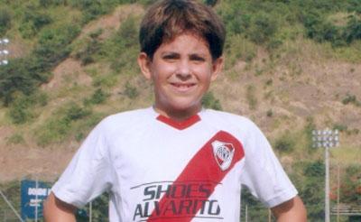 Arián Terán actuará por River Plate en la categoría sub-11.