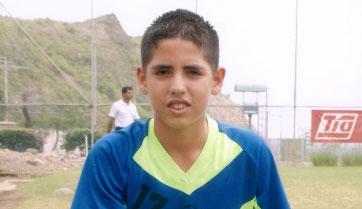Walter Sánchez, figura que jugará por EF. Metro, en sub 14.