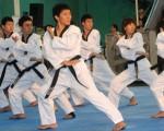 Una demostración de formas realizaron miembros del Cuerpo de Paz de Corea del Sur en el colegio San José La Salle. Esta especialidad del taekwondo, también, se implementará en el Interbarrial.