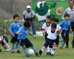 Encuentro entre los pequeños de la Unidad Educativa Mundial y la Escuela de Fútbol Diana Quintana, en el duelo que sostuvieron en la categoría sub-7 de la tercera fecha del vigésimo quinto Interbarrial de Fútbol que organiza Diario EL UNIVERSO.