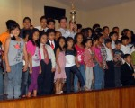 Deportistas de las diferentes academias de Guayaquil, Quevedo y Santa Elena que fueron reconocidos en la clausura del Campeonato Interbarrial de Taekwondo que auspicia Diario EL UNIVERSO.