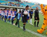 BABAHOYO. Uno de los partidos que se jugaron por la novena edición del Campeonato Interbarrial de Fútbol, que auspicia Diario EL UNIVERSO. Este 24 de marzo se inaugurará la nueva edición.