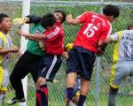 Partido entre Independiente y Canchita Norte por la categoría sub-14 del torneo Invernal de Fútbol, que terminó empatado a 1.