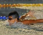 Adolfo Guzmán, de la Asociación Deportiva Naval, es uno de los clasificados al torneo nacional del XLIX Novatos de Natación.