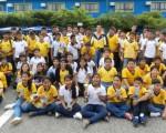 Integrantes del colegio Aguirre Abad, quienes ganaron en la clasificación general el título del Campeonato Interbarrial de Ajedrez.