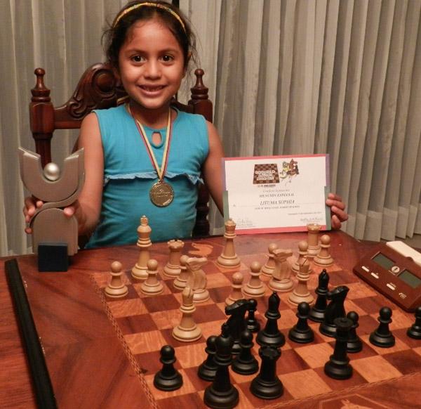 Sophía Jardiel Lituma, de Galápagos, se impuso en la categoría para menores de 6 años.