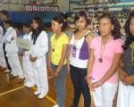 Deportistas de la Liga Deportiva Cantonal de Rumiñahui (Pichincha) que intervinieron en la primera fecha del XIV o Interbarrial de Taekwondo, que auspicia Diario EL UNIVERSO.