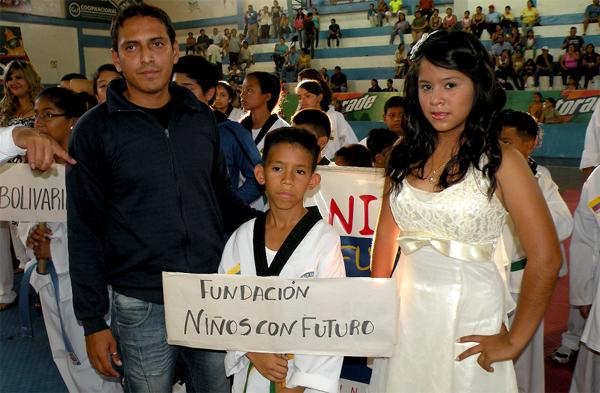 Guayaquil, 29 de octubre de 2012; inauguración del XIV Torneo Interbarrial de Taekwondo, realizado en le Coliseo Abel Jiménez Parra..Fundación Niños con Futuro