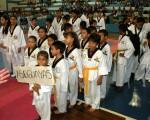 Guayaquil, 29 de octubre de 2012; inauguración del XIV Torneo Interbarrial de Taekwondo, realizado en le Coliseo Abel Jiménez Parra.Equipo de la Asociación de TKD del Guayas