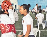 Ginger Marcillo (d) surgió del Interbarrial de Taekwondo y es campeona nacional por cuatro temporadas, desde el año 2008.