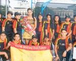 Equipo de Unión Española que intervino en el Campeonato Nacional del Novatos de Natación de Diario EL UNIVERSO. Cortesía Foto Villa