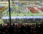 Vista panorámica de los cientos de equipos que desfilaron y formaron parte del acto inaugural de la 27ª edición del Campeonato Interbarrial de Fútbol Copa Samsung y cuyos juegos comienzan hoy.