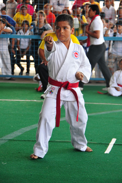 Campeonato interbarrial de karate Michael Diaz. (Angel Aguirre)