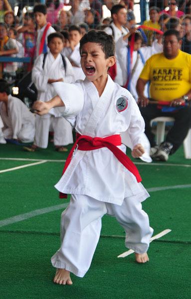 Campeonato interbarrial de karate Javier Piza. (Angel Aguirre)