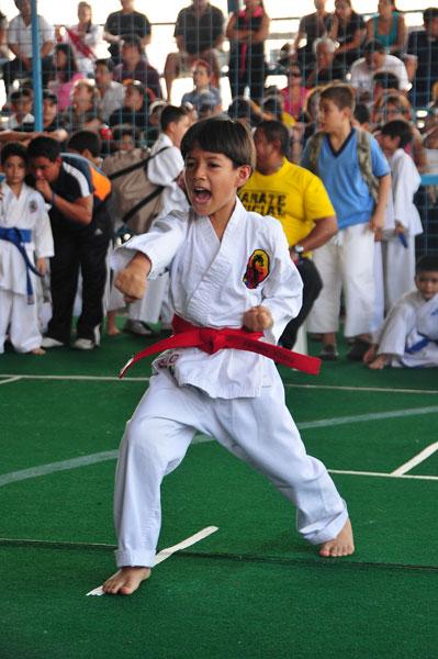 Campeonato interbarrial de karate Fabrizio Perez. (Angel Aguirre)