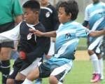 Vibrante partido protagonizaron Inter Fútbol Club (negro) y EF Santana en la serie sub-11, el resultado fue un empate a dos goles. Dirigió el lance Javier Salazar.