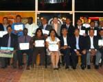 Gradución de entrenadores de fútbol. (Cortesía)