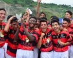 Estudiantes de Azuay, campeones de la categoría sub-17 (foto: Víctor Serrano).