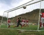 El arquero Ángel Santos, de River Americano, en su juego ante Juventus. Guido Manolo Campaña