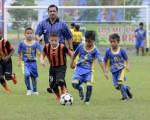 Un encuentro vibrante protagonizaron Academia Alfaro Moreno, que venció con 2-1, y EF Ermen Benítez en la categoría sub-9. (José Alvarado)