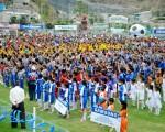 Álex Vanegas Vista general de los deportistas que intervinieron en la inauguración del torneo Interbarrial Diario EL UNIVERSO Copa Samsung, acto realizado en la Ciudad Deportiva Carlos Pérez Perasso.