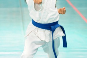 Jennifer Gordillo, una de las participantes en las katas.