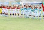 Campeones y subcampeones de la sub-9. Demostrando un fútbol ofensivo, la EF Joma, de Cuenca (i), derrotó a la EF Santos Laguna y logró la corona; su rival se quedó con el subtítulo. (José Alvarado)
