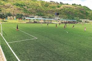 (Foto de Víctor Serrano) El Municipio de Guayaquil entregará una cancha más a la Ciudad Deportiva Carlos Pérez Perasso cuando se inaugure hoy la Nº 4 que es de material sintético. Al acto asistirá el alcalde Jaime Nebot.