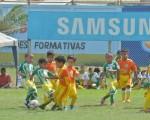 Un buen partido protagonizaron los pequeños de la categoría sub-7: Más Fútbol Cóndor y la EFM Marcelino Maridueña, cuyo marcador finalizó 0-0.
