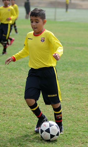 Cristhian Vélez, delantero de Barcelona, en sub-11