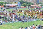 Vista panorámica que se volverá a observar con la presencia de miles de deportistas que desfilarán en la inauguración del Torneo Interbarrial de Fútbol de Diario EL UNIVERSO del 2017.