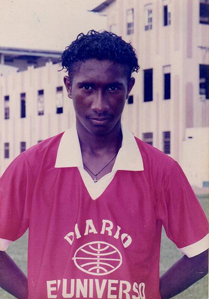 Richard Borja, en octubre de 1996, cuando viajó al torneo de Estados Unidos.