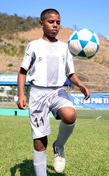 Jostin Morante, figura del equipo Patria en la sub 12.