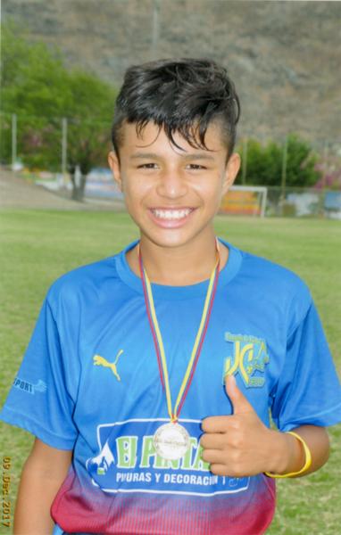 Néstor Zambrano, máximo goleador en JC Sport, sub-14.