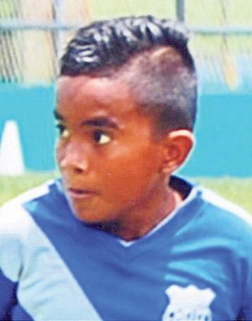 Daniel Salazar figura del cuadro de Emelec sub-11.